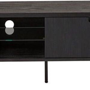 24Designs Rafael TV-meubel - B200 X D45 X H50 Cm - Acaciahout - Metaal Zwart