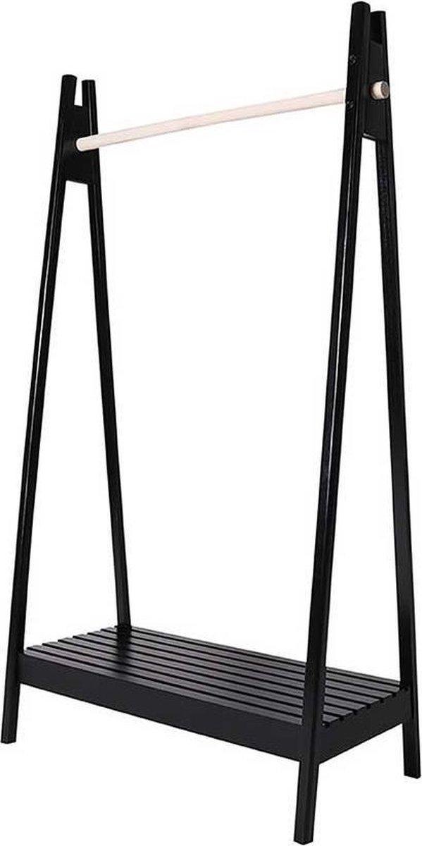 Artichok Daniël houten kledingrek - H170 x B94,5 x D 39 cm - Zwart