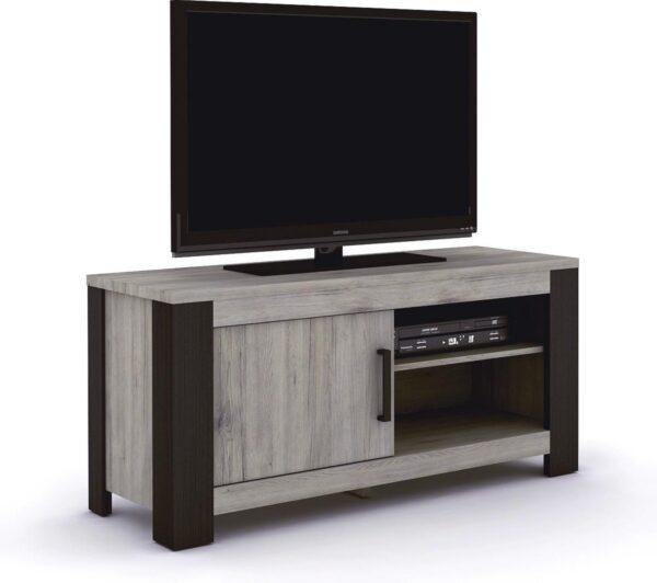 Belfurn - Metz tv meubel 120cm in een grijs decor met zwarte profielen
