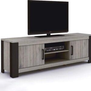 Belfurn - Metz tv meubel 170cm in een grijs decor met zwarte profielen