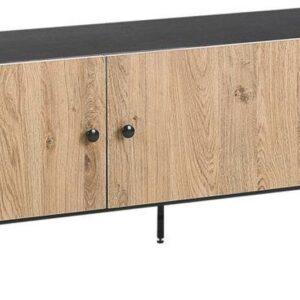 Beliani ABILEN - TV-meubel - Zwart - Spaanplaat
