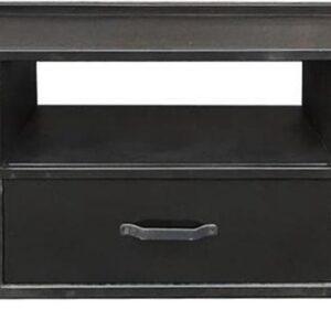 Brix   TV meubel   Lynn   gecoat staal   150x52x40 cm   zwart