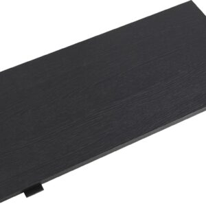 Cawy verlengblad voor eettafel 1 stk. 100x45 cm zwart.