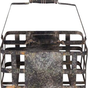 Clayre & Eef Wijnrek 6Y2563 30*20*15/31 cm - Zwart Metaal FlessenrekFlessenhouder