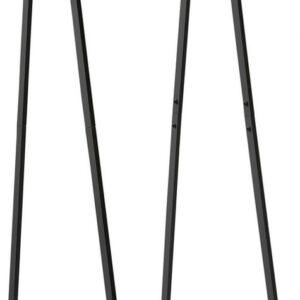 Compactor Kledingrek Nora 54 X 140 Cm Staal/hout Zwart