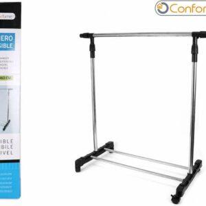 Confortime - Kledingrek - Met 1 stangen - Zwart - 85 x 42 x 90 tot 160 CM