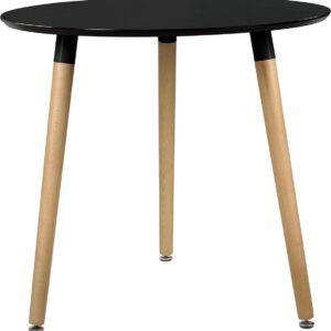 Design eettafel Camille Ø80x75 cm MDF rond zwart