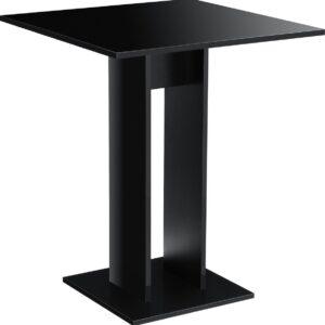 Design eettafel Lindesnes vierkant 65x65x78 zwart hoogglans