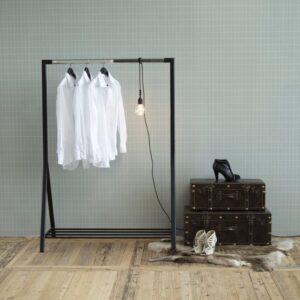 FYN Bonjour - kledingrek - zwart en chroom metaal