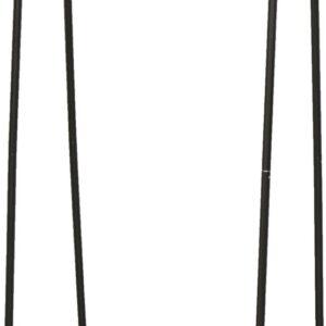 IRIS Kledingrek met 2 legplanken- PI-B2 -Metaal/Hout - Zwart