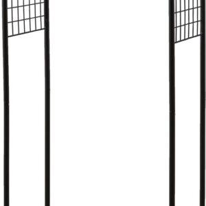 IRIS Kledingrek met 2 legplanken - PI-B4 - Metaal/Hout - Zwart