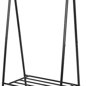 MIRA Home - Kledingrek - Kledingrek metaal - Multifunctioneel - Zwart - 155x64x41