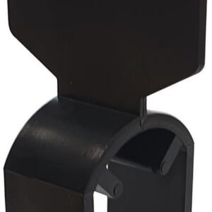 Maataanduider / klem voor kledingrek / Maataanduiding ovale buis zwart (per 10 stuks)