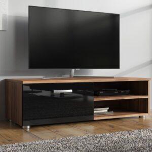 Meubella - TV-Meubel Memphis Klein - Zwart - Eiken - 96 cm