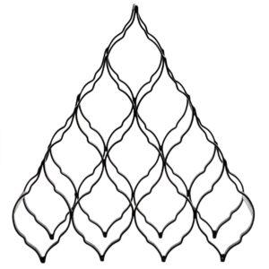 PTMD Waver ijzer pyramide wijnrek maat in cm: 38 x 15 x 43 - Zwart