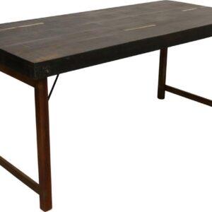 Raw Materials Eettafel - Klaptafel - 165 cm - Zwart - Gerecycled hardhout