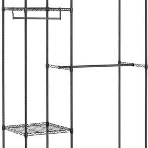 Royal Catering Metalen kledingrek - 120 x 45 x 179.5 cm - 270 kg - zwart