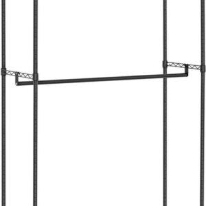 Royal Catering Metalen kledingrek - 120 x 45 x 199.5 cm - 200 kg - zwart