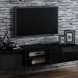 SIGMA TV Meubel - 180cm - Hoogglans Zwart - Modern Design