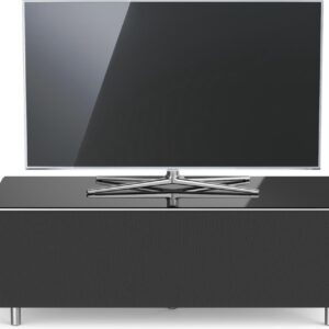 Spectral Just-Racks JRL1104T-BG   tv-meubel voor soundbar in hoogglans zwart - 1.10m breed