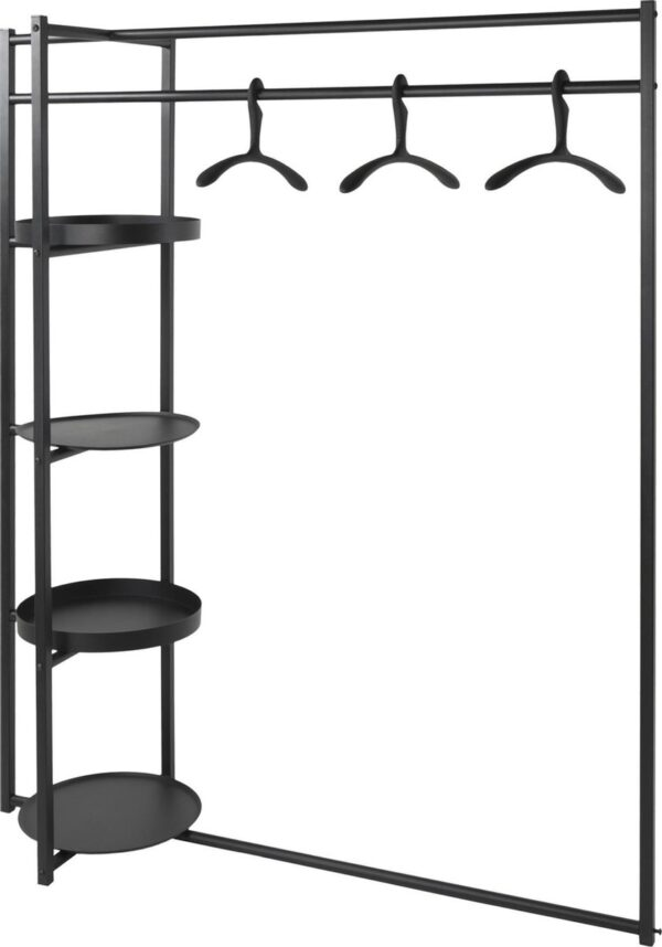 Spinder Design Roomba Kledingrek 140x50x168 - Zwart