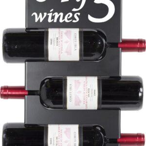 Spinder Design VINE 3 Wijnrek hangend - Zwart