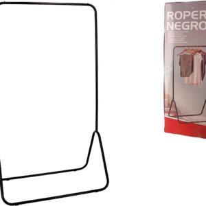 Stijlvol Industrieel kledingrek - Industriële kapstok - 80x44x145cm - Zwart - Design - Opbergen - Garderobe