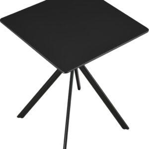 Stijlvolle eettafel - rechthoekig - 60x60cm - zwart