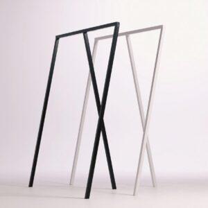 TOPhangers - modern design - kledingrek - garderoberek - kapstok - metaal - zwart - 120cm breed