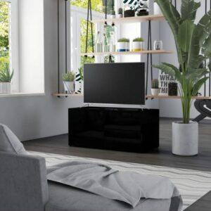 TV meubel - hoogglans zwart - industrieel - hout - kast - tvmeubel - modern - L&B Luxurys
