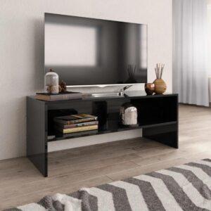 TV meubel hoogglans zwart - industrieel - hout - kast - tvmeubel - modern - L&B Luxurys