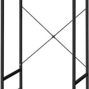 Trend24 - Garderoberek - Kledingrek - Kledingkast - Garderoberek met kapstok - 63 x 45 x 180 cm - Rustiek bruin - Zwart