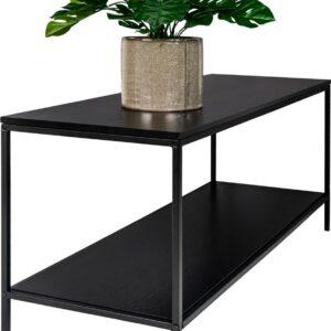 Vita TV-meubel met 2 planken, zwart.