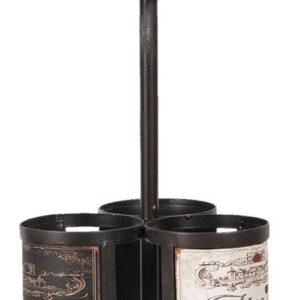 Wijnrek ø 21*55 cm Zwart | 5Y0699 | Clayre & Eef