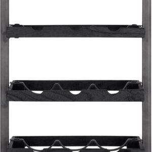 d-Bodhi - shelfmate - wijnrek - type e - voor 15 flessen - zwart hout/zwart smoked frame (btbf)