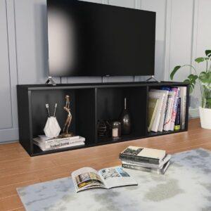 vidaXL Boekenkast/tv-meubel 36x30x114 cm spaanplaat zwart VDXL_800136