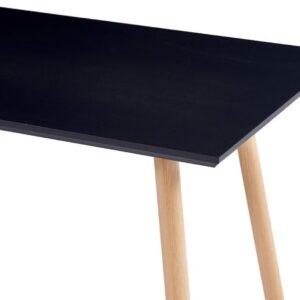 vidaXL Eettafel 120x60x74 cm MDF zwart en eikenkleurig VDXL_248307