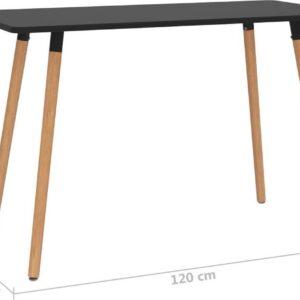 vidaXL Eettafel 120x60x75 cm metaal zwart VDXL_287243