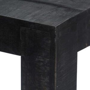 vidaXL Eettafel 180x90x76 cm massief mangohout zwart VDXL_247989
