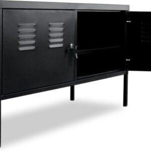 vidaXL Tv-meubel 118x40x60 cm zwart VDXL_244721