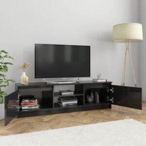 vidaXL Tv-meubel 120x30x35,5 cm spaanplaat hoogglans zwart VDXL_800574