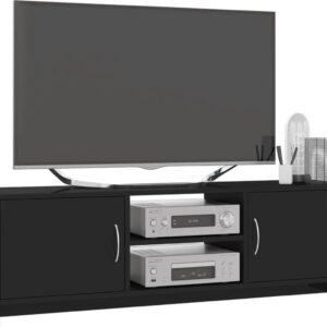 vidaXL Tv-meubel 120x30x37,5 cm spaanplaat hoogglans zwart VDXL_800286