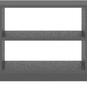 vidaXL Tv-meubel 120x30x37,5 cm spaanplaat zwart VDXL_800280