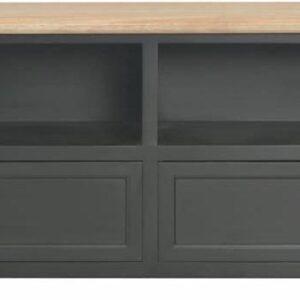 vidaXL Tv-meubel 120x30x40 cm hout zwart VDXL_249908