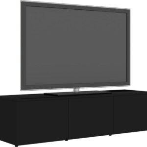vidaXL Tv-meubel 120x34x30 cm spaanplaat hoogglans zwart VDXL_801875