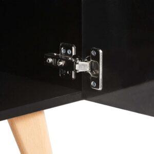 vidaXL Tv-meubel 120x40x46 cm MDF zwart VDXL_247308