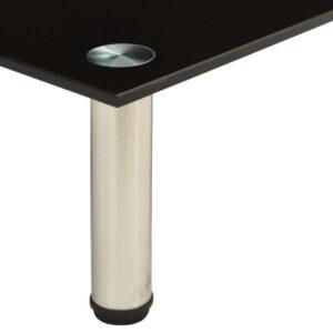 vidaXL Tv-meubel 140x35x17 cm gehard glas zwart VDXL_322773