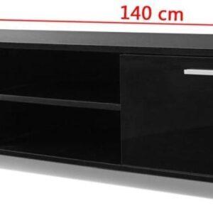 vidaXL Tv-meubel 140x40,3x34,7 cm hoogglans zwart VDXL_243044