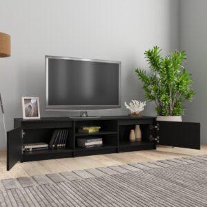 vidaXL Tv-meubel 140x40x35,5 cm spaanplaat zwart VDXL_800649