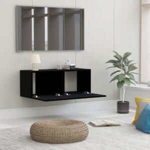 vidaXL Tv-meubel 80x30x30 cm spaanplaat zwart VDXL_801473